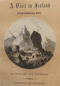 Title page showing tiny figures travelling up a rocky landscape