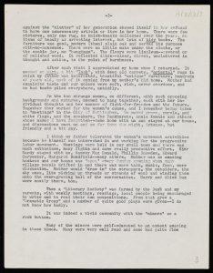 Typewritten page