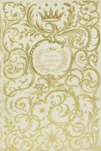Title page with an elaborate and intricate gold botanical themed design