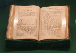 Mortimer's book on display in the exhibition
