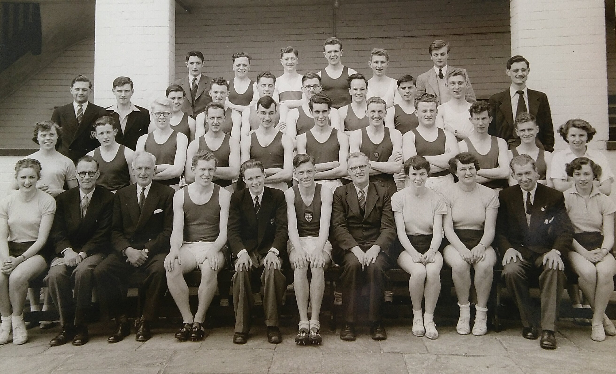 Undated photograph of Cross Country and Athletics Club (UU 20/4/2)