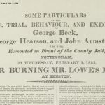 Broadside from 'Nottinghamshire Trials' volume, East Midlands Special Collection Over.X Not 1.H64 ALB