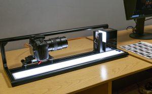 Specialist equipment set up in the Digitisation Studio