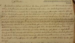 Extract of a deed in very neat handwriting