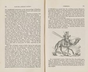 Printed book with an engraving of a man riding a camel