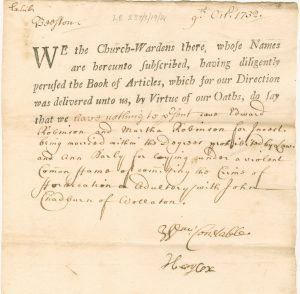 Part printed, part handwritten document