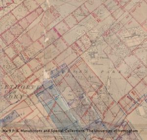 Map of mine workings under Perlethorpe, Edwinstowe and Ollerton, c.1942-1989