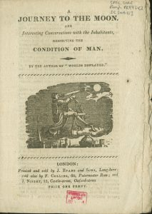 Cover of pamphlet, A journey to the moon, and interesting conversations with the inhabitants... by John Campbell, [1814-1820]