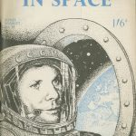 Cover of Soviet Man in Space, 1961, showing an illustration of Major Yuri Gagarin
