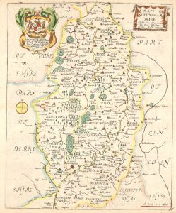 Map of Nottinghamshire by Richard Blome, 1673 (Bre 5)