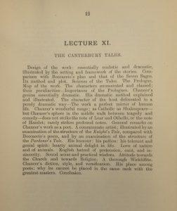 Printed pamphlet relating to the (London) University Extension Lectures syllabus of a course of lectures on Early English Literature from the origins to Chaucer (1888). Ref: Bd 70
