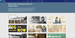 Screenshot of Manuscripts and Special Collections Digital Gallery