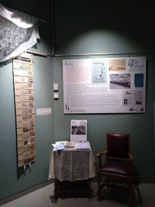 Exhibition board in the Weston Gallery, Lakeside Arts