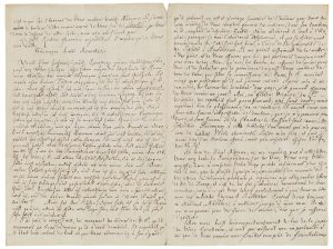 Page from a letter written in French and German.