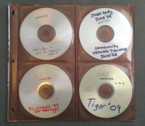 CDs and DVDs from the Students' Union archive