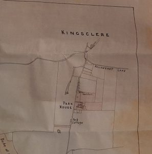 Extract from a map showing Kingsclere