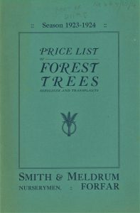 Green coloured front cover of a printed pamphlet