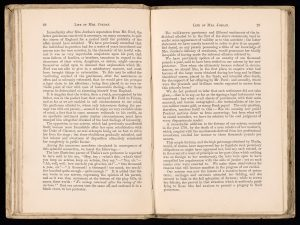 Pages from the printed biography of Mrs Jordan showing the pages discussing her relationship with the Duke of Clarence