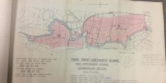 Map produced by the River Trent Catchment Board showing a proposed flood protection scheme for the River Trent at Gainsborough (1938).