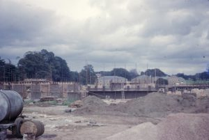 Photograph of Sherwood Hall of Residence under construction, 1963