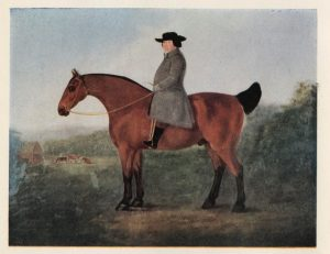Painting of Robert Bakewell seated on a horse