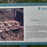 Photo of the small information sign at the site of Keighton