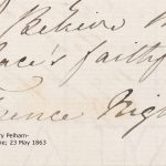 Extract from a letter showing Florence Nightingale's signature