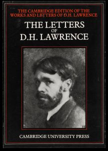 Black book cover with a photo of DH Lawrence and the text The Letter of D H Lawrence