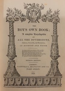 Frontispiece showing a classical-style column with the title written beneath