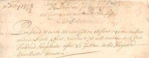 Handwritten extract from the itemised bill