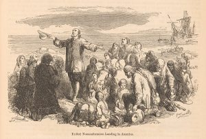 Image showing Pilgrim Fathers landing in America