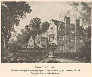 Drawing of Broxtowe Hall