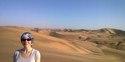 Ursula in the Namib desert