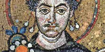 Theoderic in mosaic form