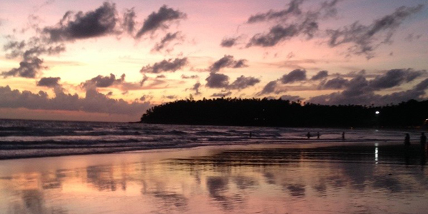 Sunset in beautiful Thailand