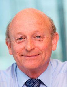 Sir Peter Rubin smiling at the camera