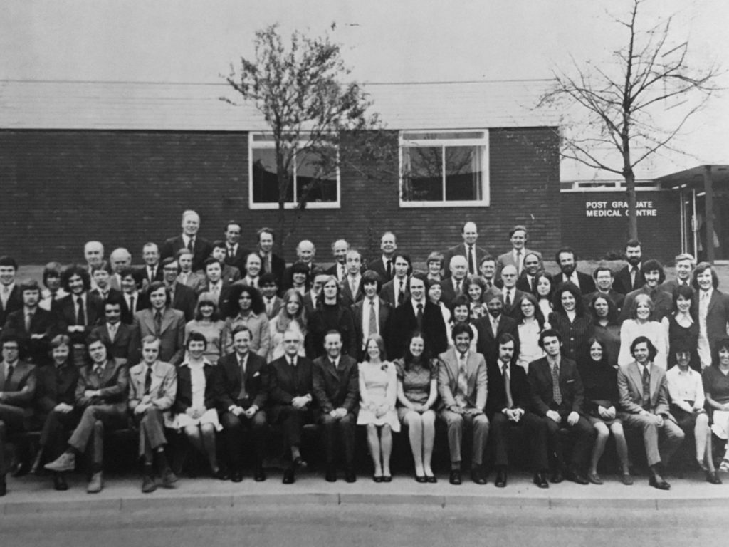 Group photo of students and staff in the first cohort of Medicine