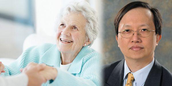 Professor Kwok-Leung Cheung and an older woman