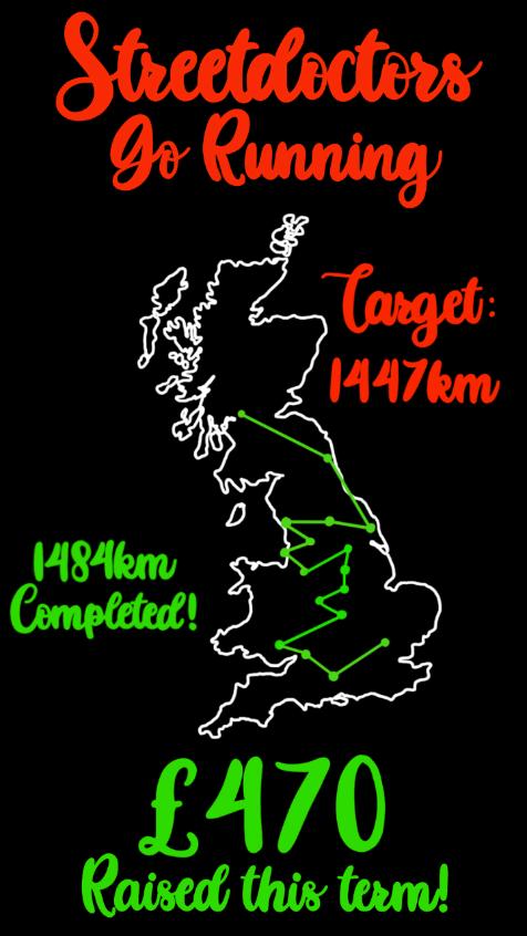 StreetDoctors Go Running: Target 1447km. 1484km Completed!