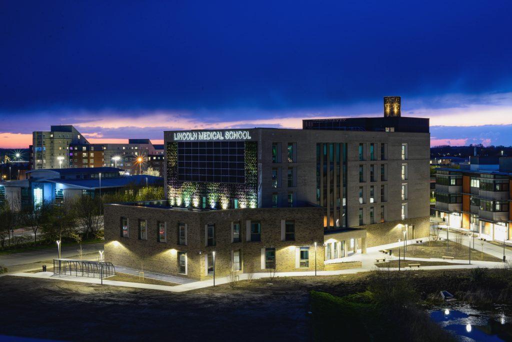 Lincoln Medical School at night