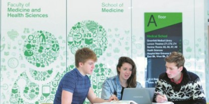 Students at A Floor Foyer of the Medical School, Nottingham