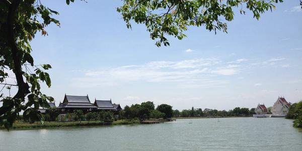 Campus lake view