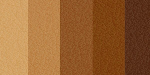 Different skin colour shades