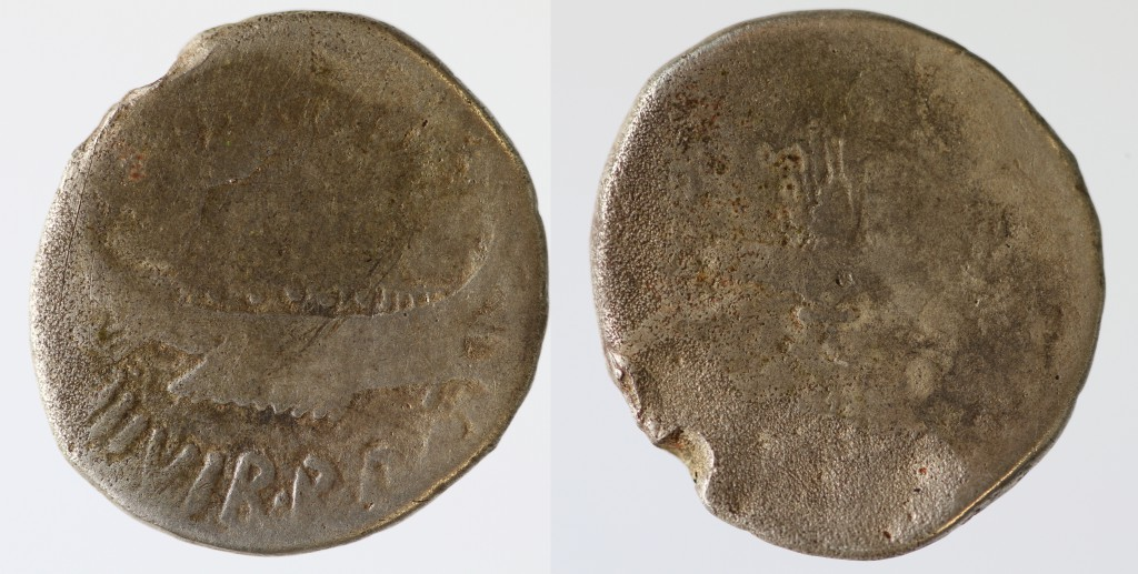 AR legionary denarius of Mark Antony.