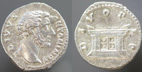 AR denarius of Antoninus Pius