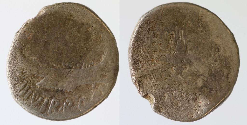 AR denarius of Marc Antony.