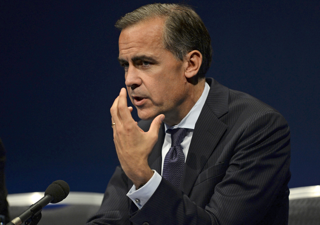 Governor of the Bank of England Mark Carney at the East Midlands Conference Centre