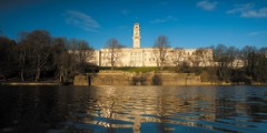 Trent Building in the sunshine