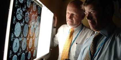 Professor David Walker and Richard Grundy