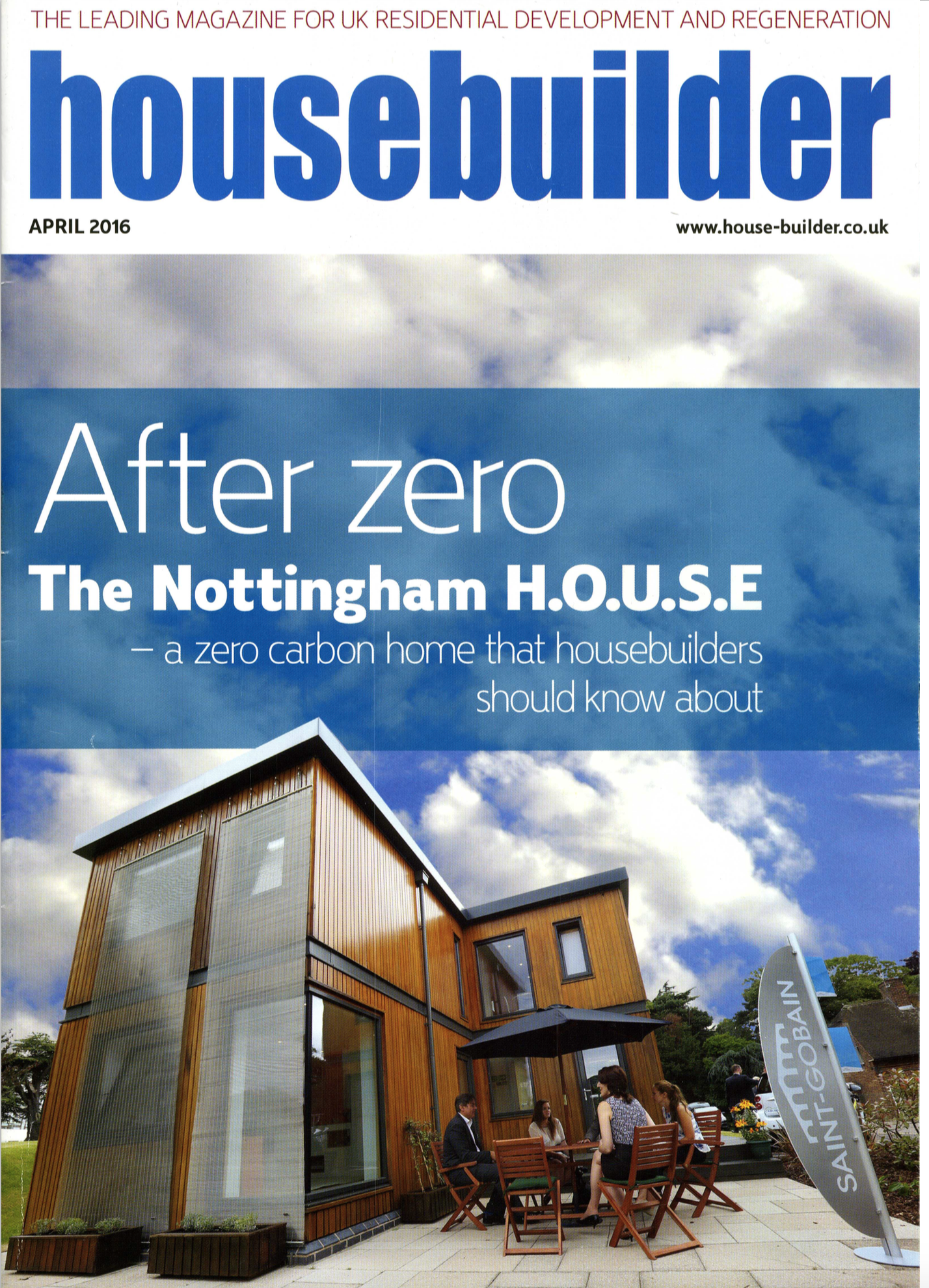 Nottingham house front page news in top building magazine for Front of house magazine